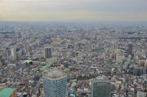 la vista de Tokyo de la planta 60 de Sunshine City