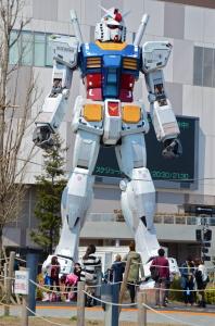 reproducción 1:1 de Gundam, el robot de 30 metros