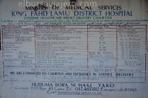 precios de la sanidad en Lamu