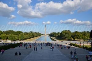 """I have a dream"", reflecting pool y el obelisco desde el punto exacto donde habló Martin L. King"
