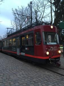 El pequeño tren que hace el recurrido Soprabolzano - Collalbo.