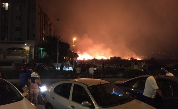 El fuego llega al Arenal.